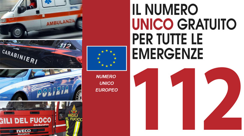 Da martedì 10 aprile il 112 per tute le emergenze (NUE)