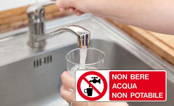 Nicosia – Divieto di utilizzo dell'acqua per uso potabile