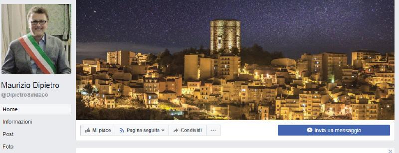 Il sindaco di Enna Maurizio Dipietro su Facebook