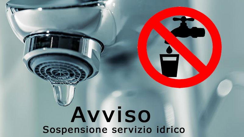 Sospensione dell'erogazione idrica a Piazza Armerina e in diversi comuni del consorzio