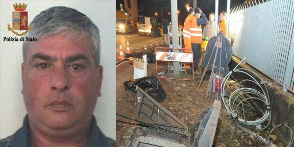 Posa delle fibra ottica: arrestato questa mattina un boss della mafia catanese per estorsione