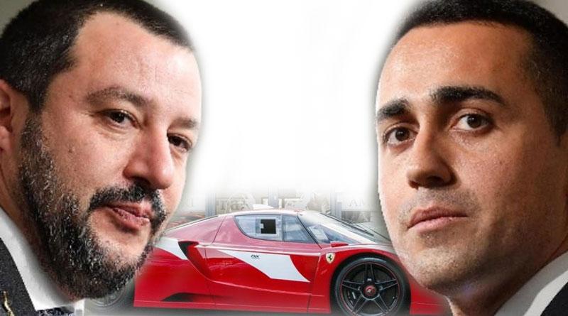 Matteo Salvini & Luigi Di Maio: neopatentati alla guida di una Ferrari.