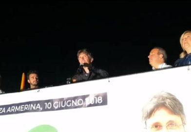 Il comizio del candidato a sindaco Mauro Di Carlo trasmesso ieri diretta