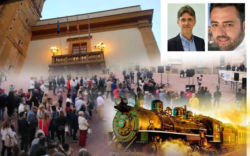 Di Carlo – Cammarata il ballottaggio mentre in lontananza il treno di Miroddi si allontana.
