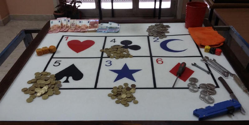 Piazza Armerina: denunciato un cittadino marocchino per  esercizio di gioco d'azzardo.