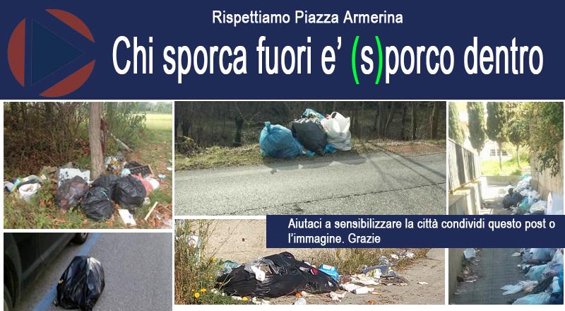Piazza Armerina – Per una adeguata pulizia della città occorre nuovo rapporto tra Tekra e comune, ma noi cittadini…
