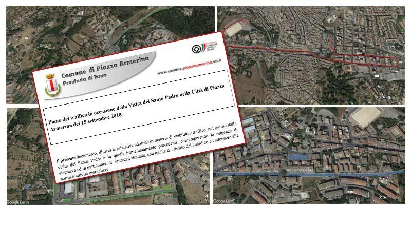 Piazza Armerina, Papa Francesco – Comunicato dalla Polizia Locale il Piano del traffico definitivo