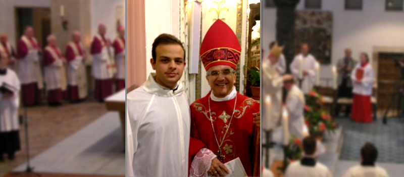 Enrico Lentini, giovane piazzese, verso l'ammissione agli Ordini Sacri.