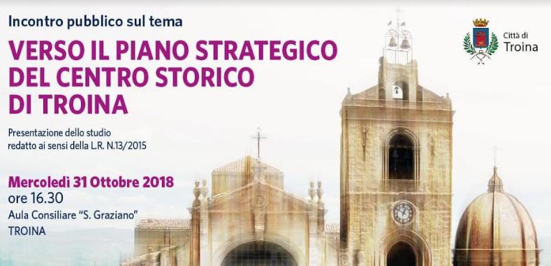 Troina – Mercoledi' 31 ottobre incontro pubblico sul nuovo piano strategico del centro storico