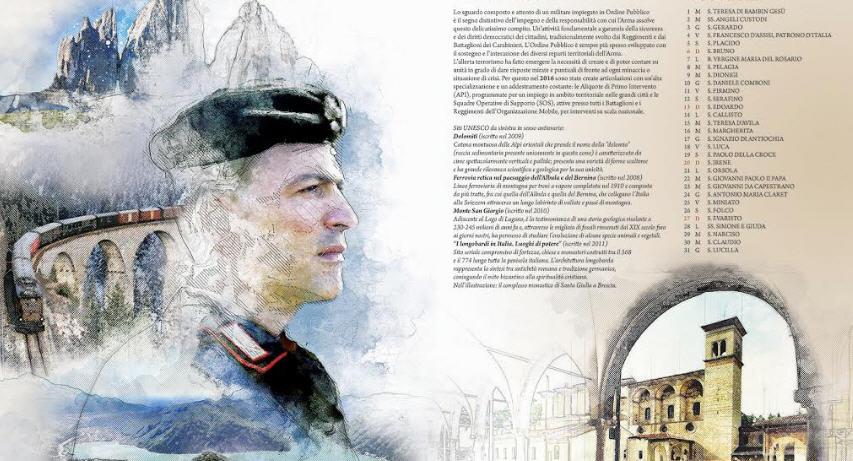 Carabinieri – Presentato il calendario Storico dell'Arma 2019