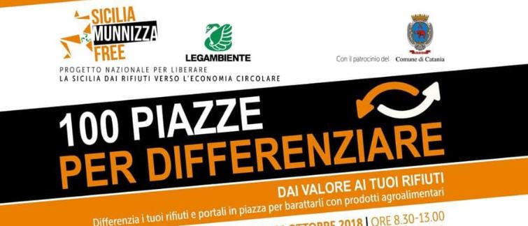 """Enna,Legambiente – Domani, sabato 17 novembre,  """"100 Piazze per differenziare"""""""