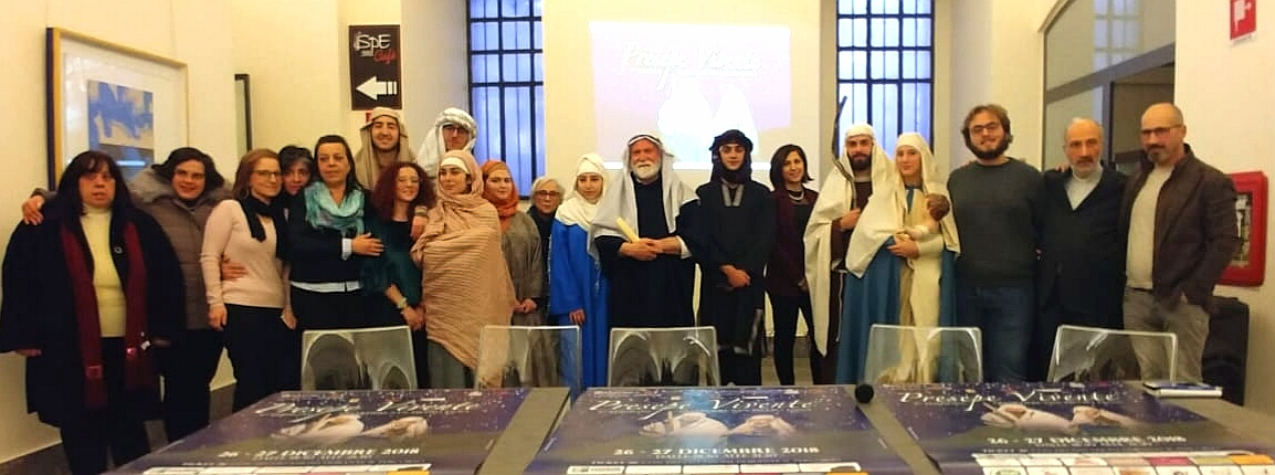 Enna – Presentato il presepe vivente di San Pietro 2018