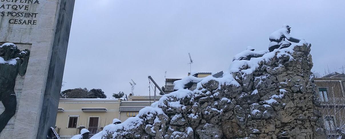 Fotonotizia – Piazza Armerina sotto la neve
