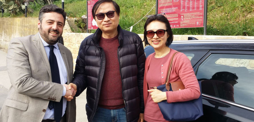 L'ambasciatore della Corea del Sud alla Villa romana del Casale
