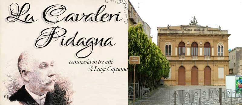 """Al teatro Garibaldi """"Lu cavaleri Pidagna"""" a cura della compagnia teatrale """"il Sipario"""""""