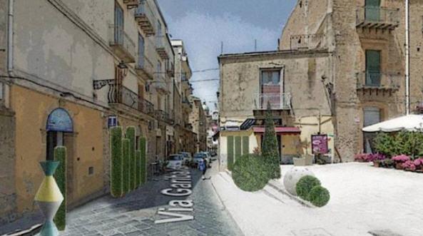 """Piazza Armerina -Svelato il progetto """"verde"""" per abbellire la via Garibaldi"""