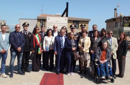 Valguarnera, cerimonia di intitolazione di una piazza al Carabiniere Scelto Giuseppe Barbarino