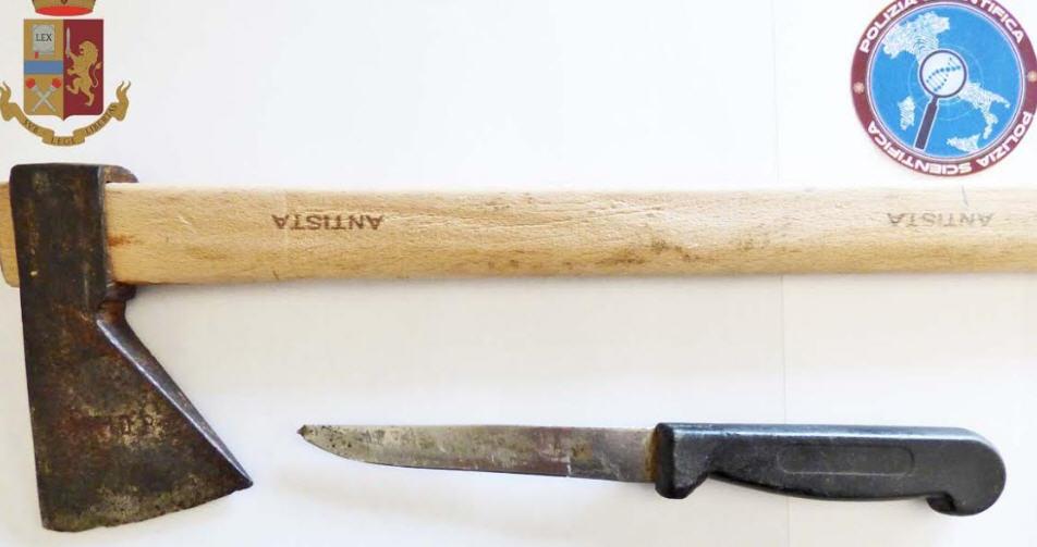 Piazza Armerina – Denunciato un pregiudicato trovato in possesso di un coltello e un'accetta