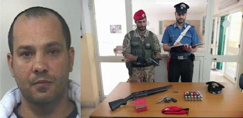 Barrafranca,  arrestato pregiudicato per detenzione illecita di armi