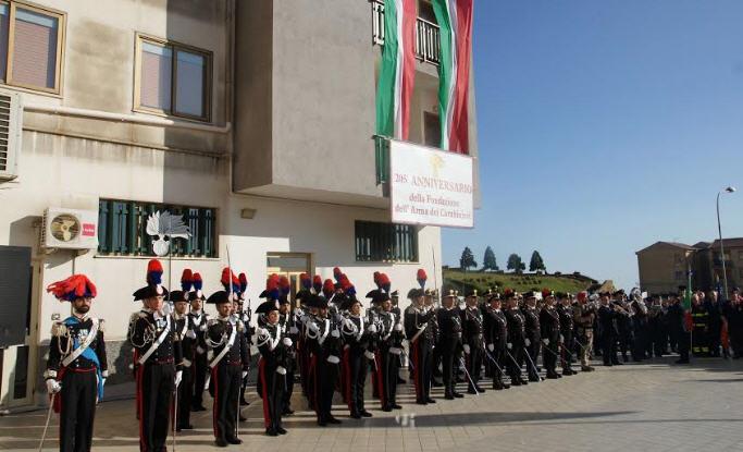 Ieri la festa dell'arma dei carabinieri: 205° annuale di fondazione