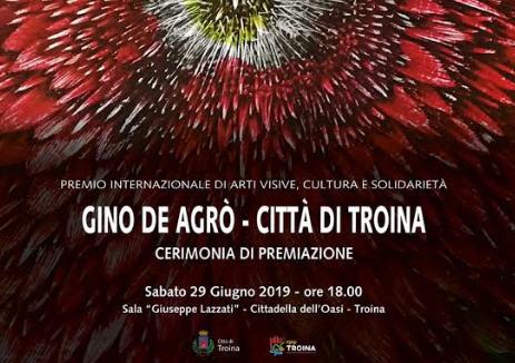 """Sabato 29 giugno la cerimonia di premiazione del premio """"Gino De Agro' – Citta' di Troina"""""""
