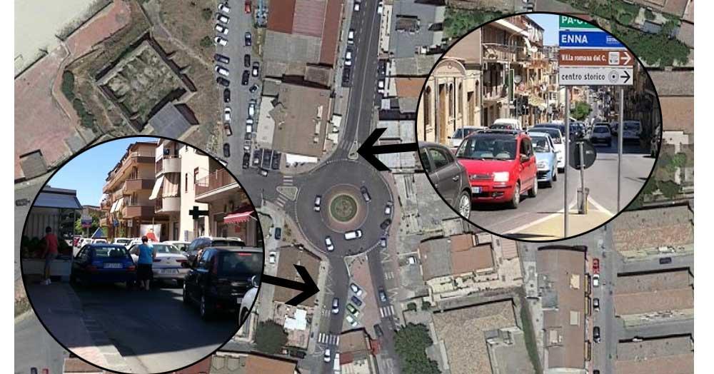 Piazza Armerina: la rotonda che blocca il traffico.