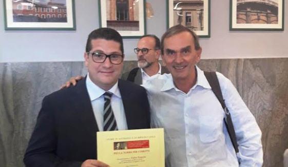 Al sindaco di Troina Fabio Venezia il riconoscimento alla memoria di Pio La Torre