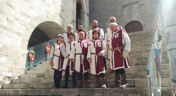 Il presidente della compagnia arcieri del castello di Enna giudice di gara al palio degli arcieri di Todi
