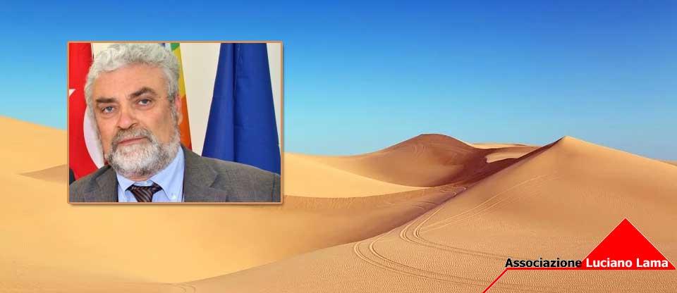 Enna – Il presidente dell'associazione Luciano Lama Domenico Bellinvia in missione nel Sahara