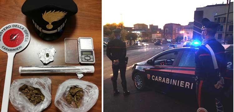 Carabinieri – Lotta allo spaccio di droga:  a Enna e Piazza Armerina, un arresto, una denuncia e una segnalazione