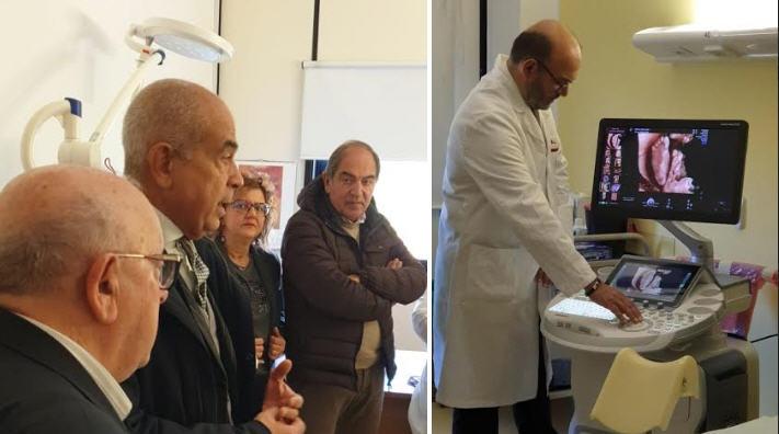 ASP Enna. Inaugurato l'ecografo top per evoluzione tecnologica presso il reparto di Ostetricia/ Ginecologia dell'Umberto I di Enna