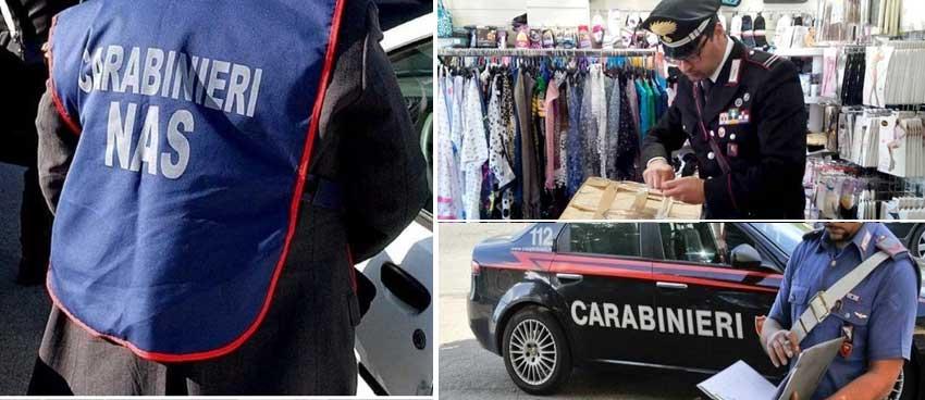 Carabinieri: controlli dei NAS. Sequestrati giocattoli non conformi ad un negozio cinese di Enna bassa.