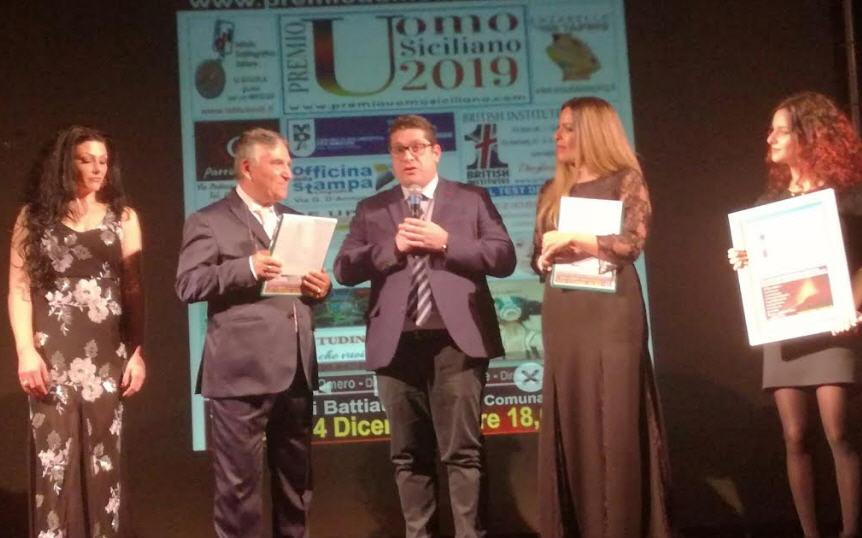 """Troina – Al sindaco Fabio Venezia il premio """"uomo siciliano 2019"""""""