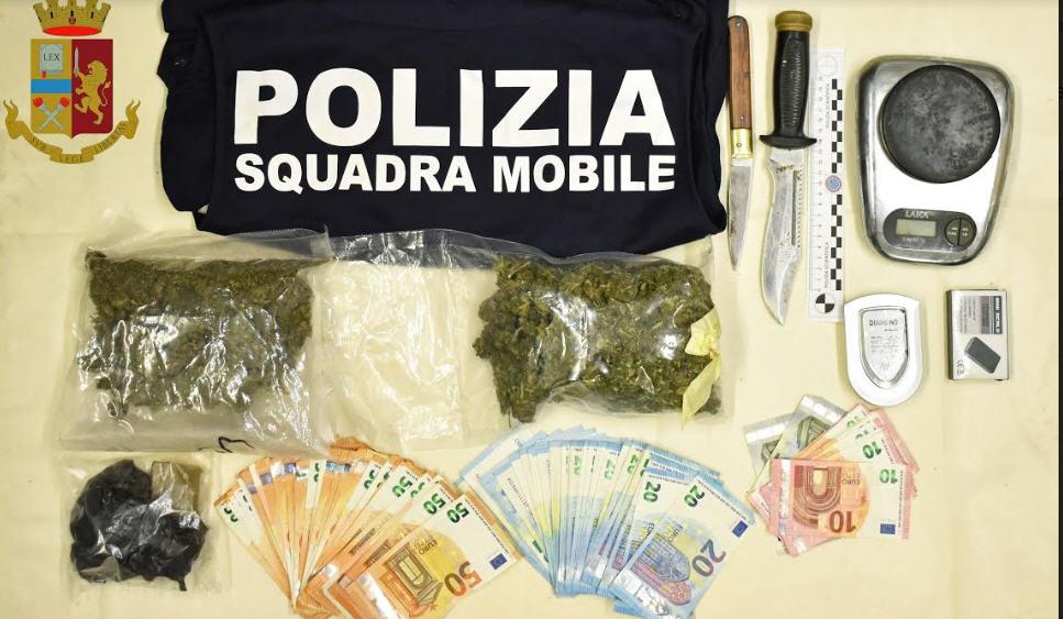 La polizia arresta un presunto pusher a Barrafranca.