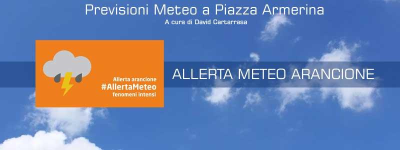 Meteo Piazza Armerina – Inizio settimana all'insegna dei temporali. Allerta meteo.