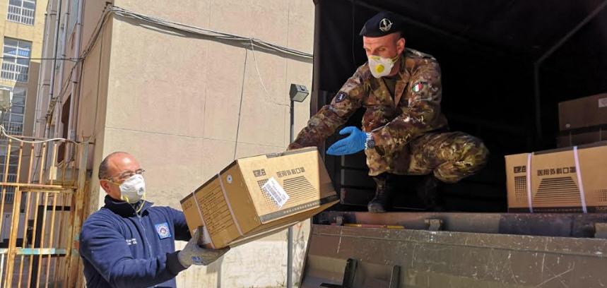 Coronavirus: l'Esercito in Sicilia supporta la Protezione Civile