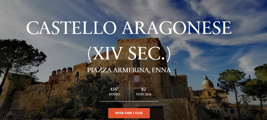 Piazza Armerina – Votiamo per il Castello Aragonese… potrebbe arrivare un finanziamento per restaurarlo