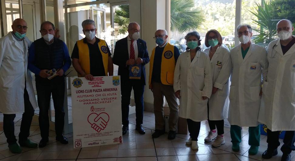 Coronavirus e solidarietà: dai Lions Club Generi Alimentari alla Caritas e Visiere all'Ospedale Chiello di Piazza Armerina