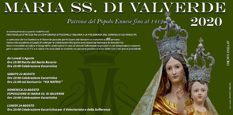 Enna – Festa Maria Santissima di Valverde Dal 23 Agosto inizia la settimana principaledei festeggiamenti