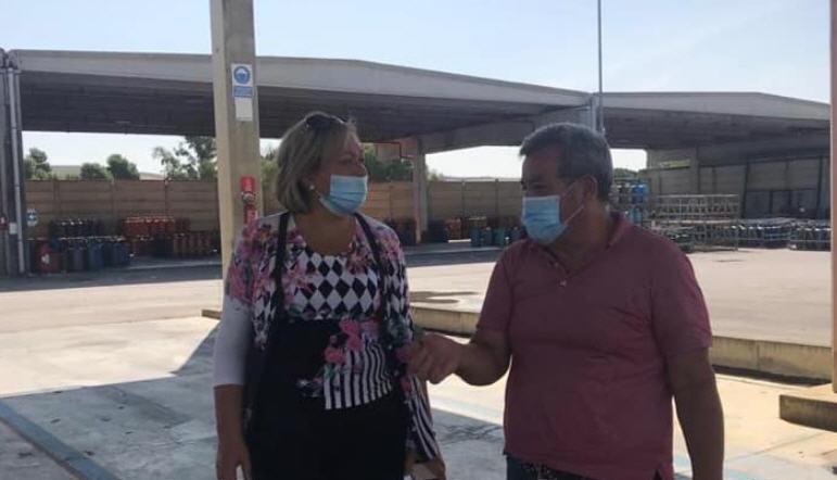 """I danni della grandinata su Dittaino: la deputata Luisa Lantieri """"Occorre intervenire con urgenza""""."""