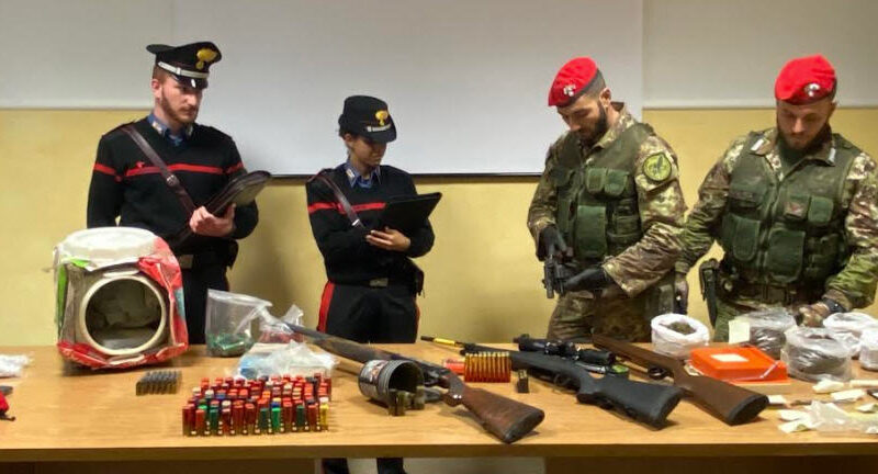 Droga e armi: manette per quattro presunti spacciatori originari di Villarosa e Leonforte