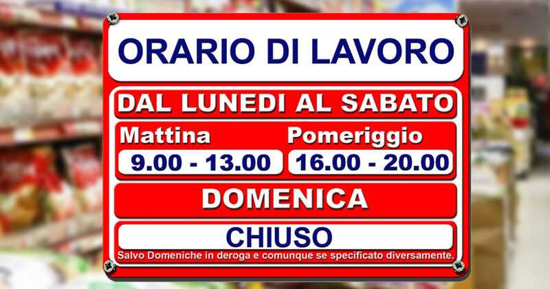 Sicilia – Ordinanza del Presidente della Regione: tutte le attività commerciali chiuse la domenica