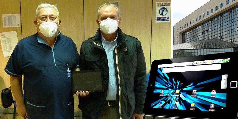 Enna – Tablet per i pazienti dei reparti Covid