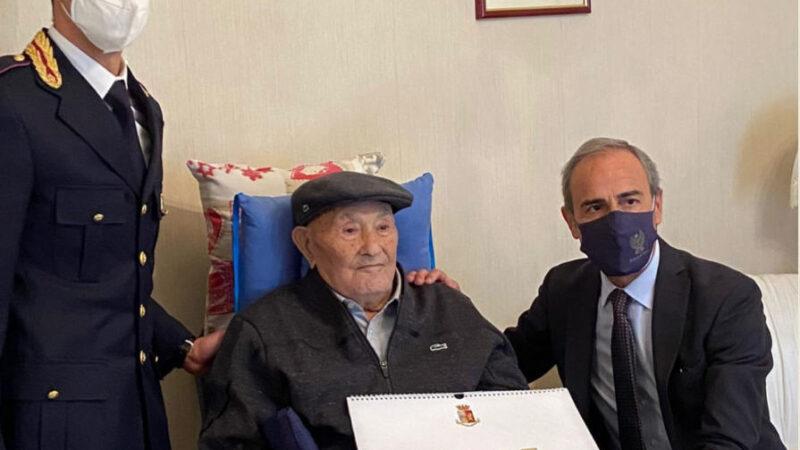 La Polizia di Stato festeggia i 100 anni del poliziotto Nicolo' Rizzuto