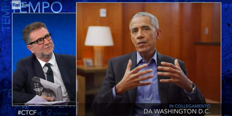 Fabio Fazio vola alto con l'intervista a Barack Obama e il pubblico lo premia.