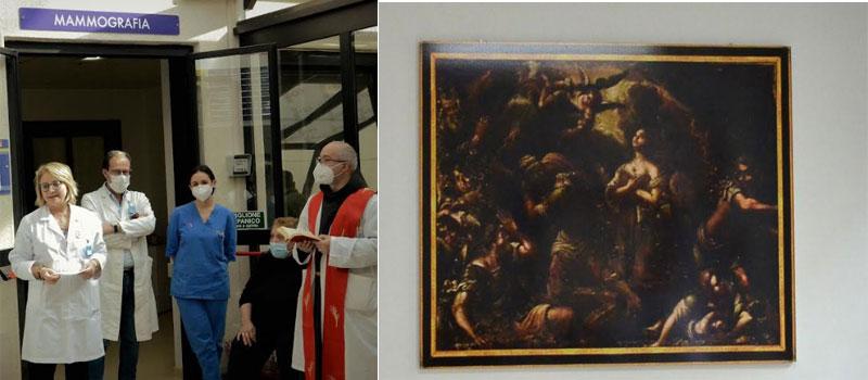 ASP Enna. L'effigie di Sant'Agata esposta all'Umberto I di Enna