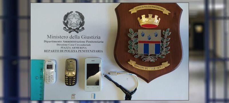 Piazza Armerina – Operazione della polizia penitenziaria: tre mini cellulari trovati all'interno del carcere