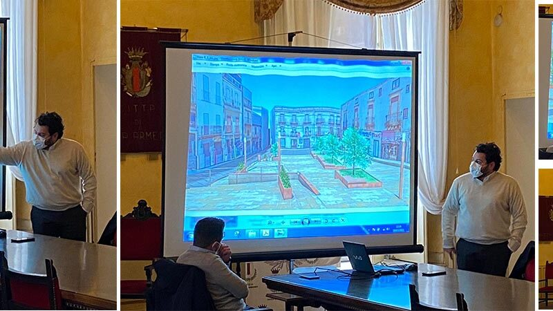Piazza Armerina – La piazza Garibaldi cambia volto. Le vere foto del progetto in esclusiva su Startnews