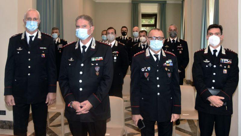 """Carabinieri: il saluto di benvenuto del comandante interregionale """"Culqualber"""" agli ufficiali nuovi giunti in Sicilia e Calabria"""