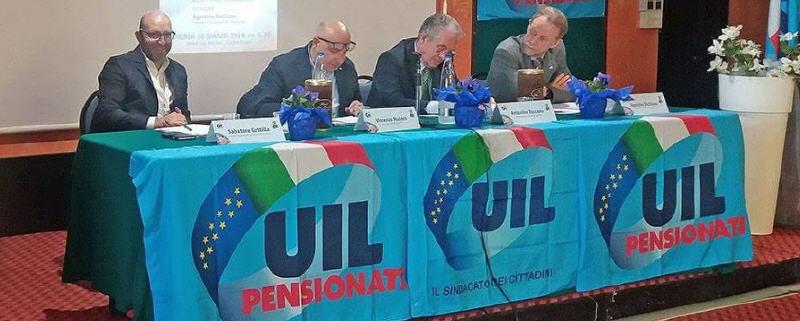 Salvatore Guttilla riconfermato alla guida della Uil pensionati di Caltanissetta